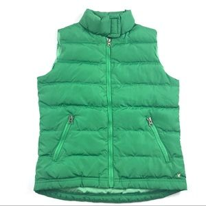 American Eagle Puffer Down Vest Small Green